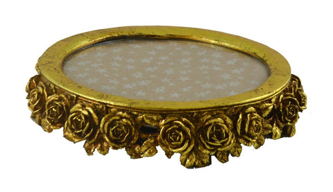 "11"" ROUND GOLD TRAY"