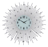 "27"" ROUND WALL CLOCK, BLK SPOKES"