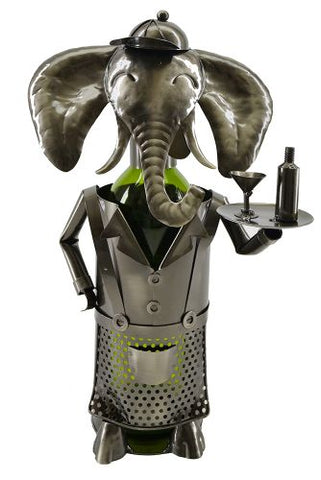 ELEPHANT WAITER WIMNE BOTTLE HOLDER