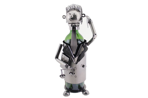LAWYER METAL WINE BOTTLE HOLDER