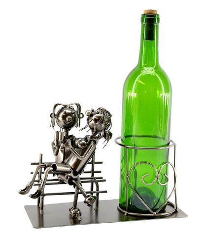 BOTTLE HOLDER, LOVERS ON BENCH