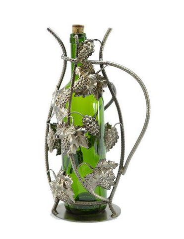 "13"" WINE BOTTLE HLDR, GRAPES"
