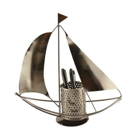 11.5X4X11.5 SAIL BOAT PEN HOLDER