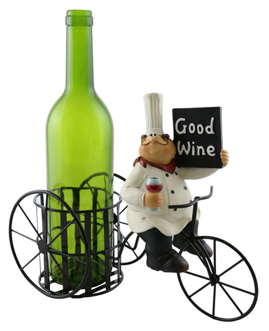 11X9 BOTTLE HOLDER, OLD CHEF W/ SIGN
