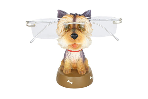 "EYEGLASS HOLDER, 4.5"" SHITZU DOG"