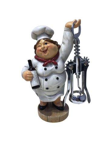 "7.5"" LADY CHEF W/ CORK OPENER"