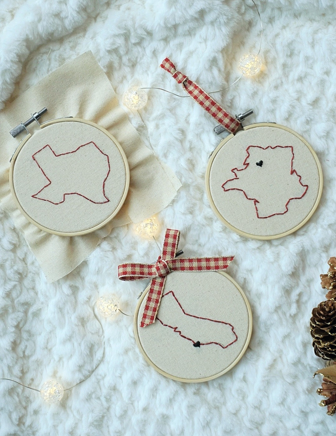PACK OF 3 ❞ Noël ornaments, US states and Countries (10% off)