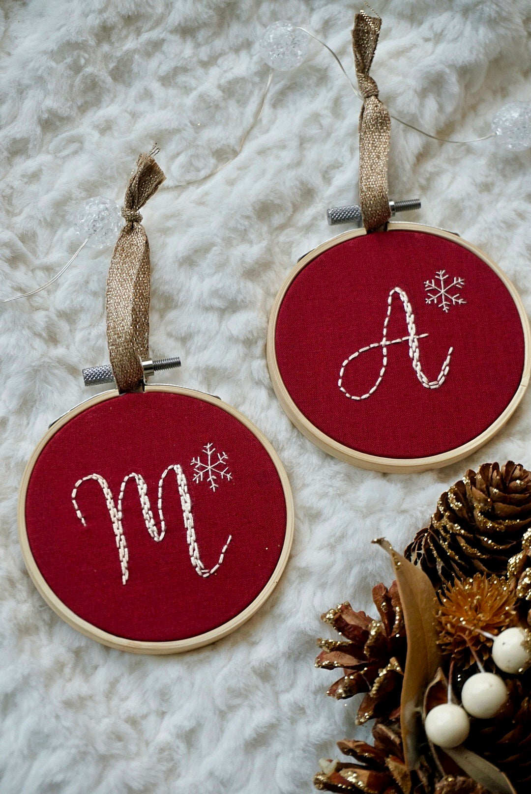 PACK OF 5 ❞ Noël ornaments, Initials (Buy 4 get 1 free)