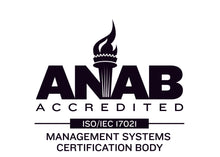 Load image into Gallery viewer, ANAB Accredited, Management Systems Certification Body