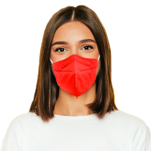 Woman in M95c red mask
