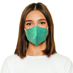 Woman in M95c green mask