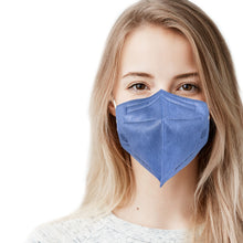 Load image into Gallery viewer, Woman in blue jeans denim mask
