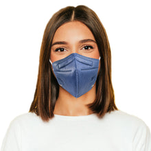Load image into Gallery viewer, Woman in M95c denim blue mask