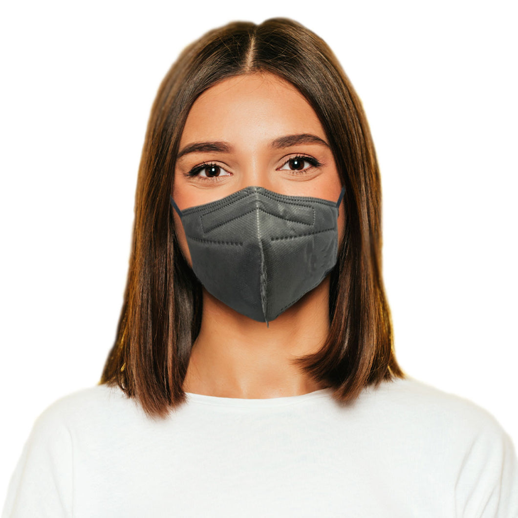 Woman in M95c gray mask