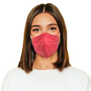 Woman in M95c hot pink mask
