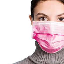 Load image into Gallery viewer, Woman in hot pink mask