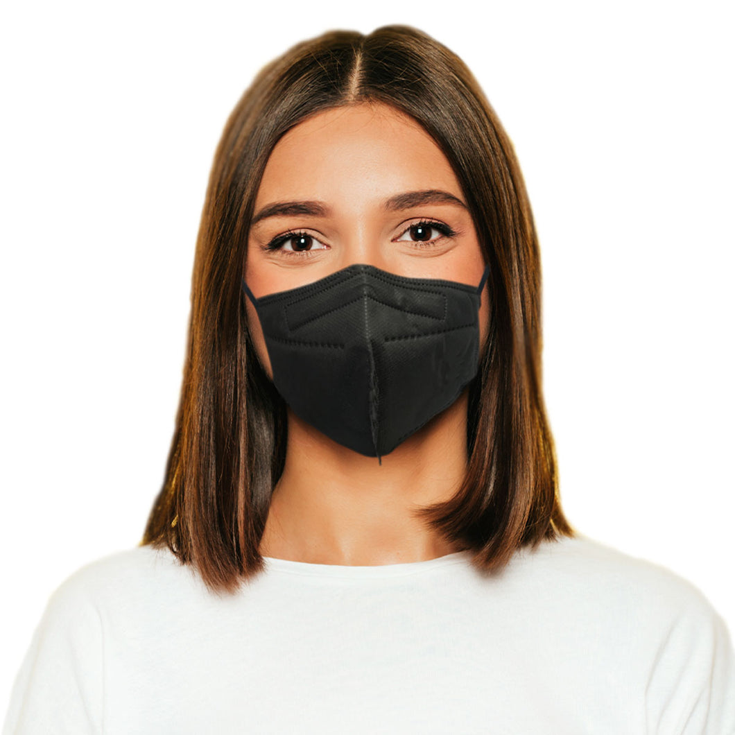 Woman in M95c black mask