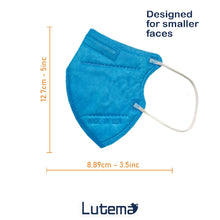 Cargar imagen en el visor de la galería, Made in USA, Small Sized Adults 5-Ply (M95c) Travel Face Mask with Ultra High Filtration