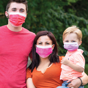 "Made in USA, 3 Layer Breathable Kids (5.5"") Face Mask (50 Pack)"