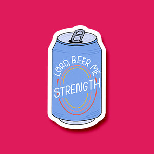 """Lord Beer Me Strength"" Sticker"
