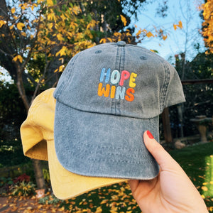 Hope Wins Hat | Washed Blue