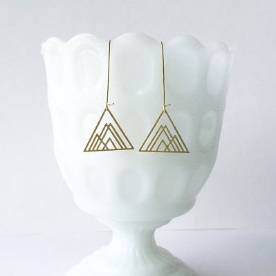 Overlapping Triangles Earrings by A Tea Leaf