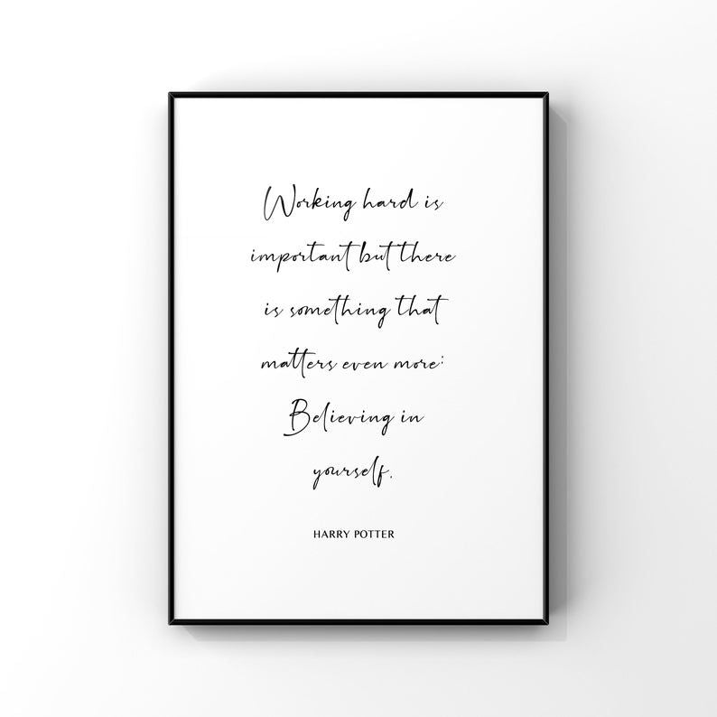 Working Hard is Important...Dumbledore 8x10 Unframed Print by Evergreen Decor Co