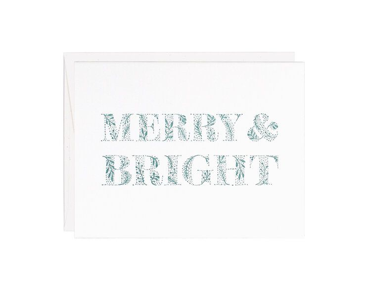 MERRY & BRIGHT - HOLIDAY CARD
