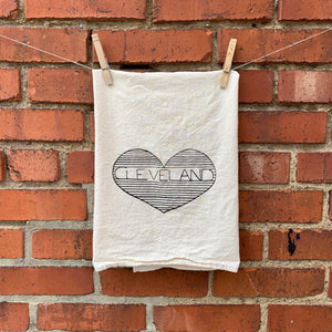 CLEVELAND Heart Tea Towel