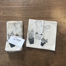 Load image into Gallery viewer, Cactus Cloth Napkins Set of Four