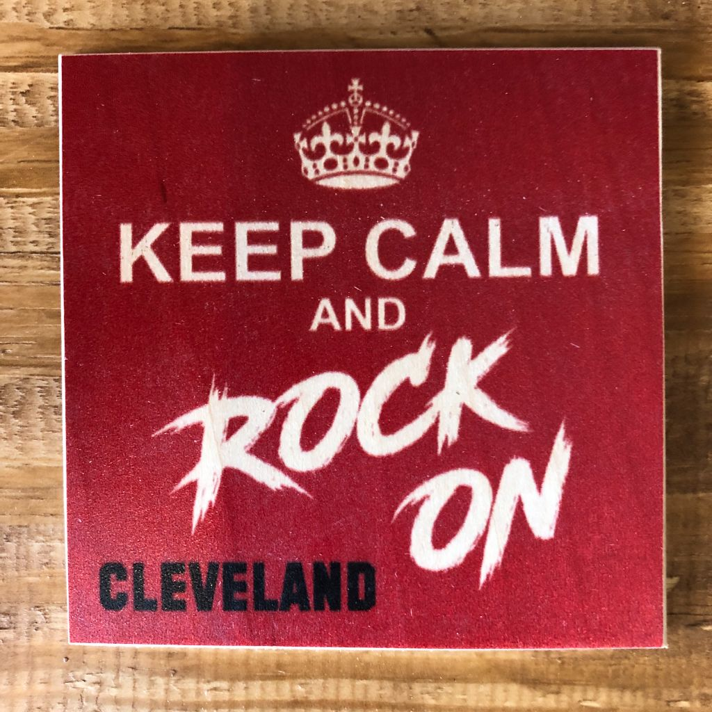 Keep Calm And Rock On Coaster by Foundry Woodprints