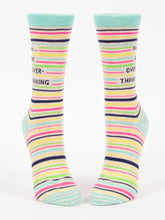 Load image into Gallery viewer, Shhh...I'm Over-Thinking Women's Crew Socks