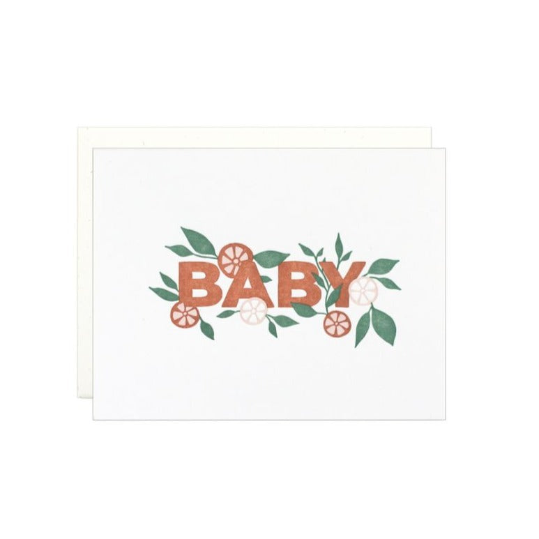 Baby Citrus Card by Lake Erie Design Co