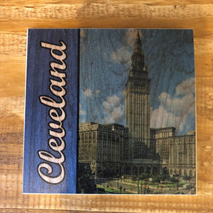 Cleveland Terminal Tower Coaster by Foundry Woodprints