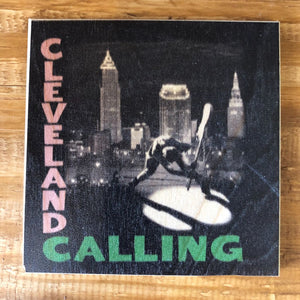 Cleveland Calling Coaster by Foundry Woodprints