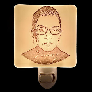 Ruth Bader Ginsberg Night Light by Hunky Dory Studio