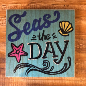 Seas The Day Coaster by Foundry Woodprints