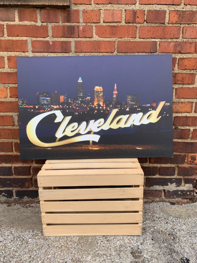 Cleveland Skyline Canvas Photo Print by Foundry Woodprints (IN STORE OR CURBSIDE PICK UP ONLY)