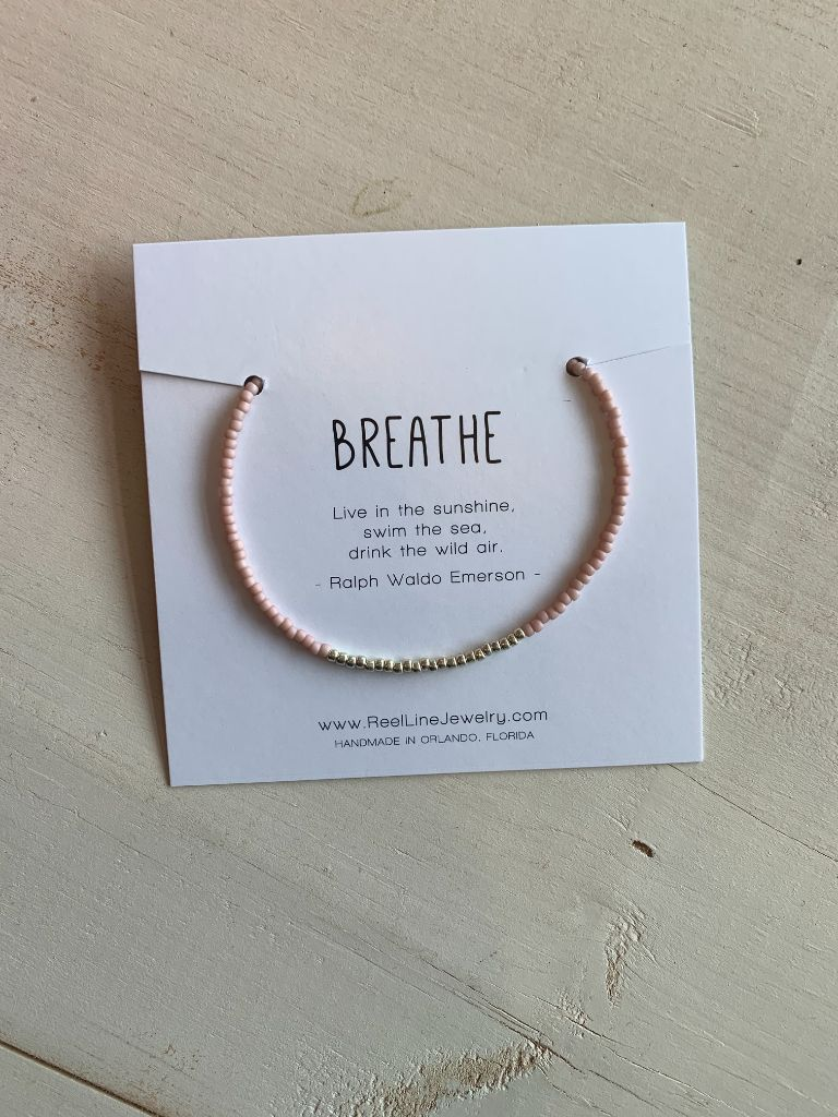 Minimalist Bracelets - Silver - Breathe by Reel Line Jewelry
