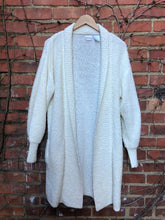 Load image into Gallery viewer, Oversized Cream Cardigan Sweater