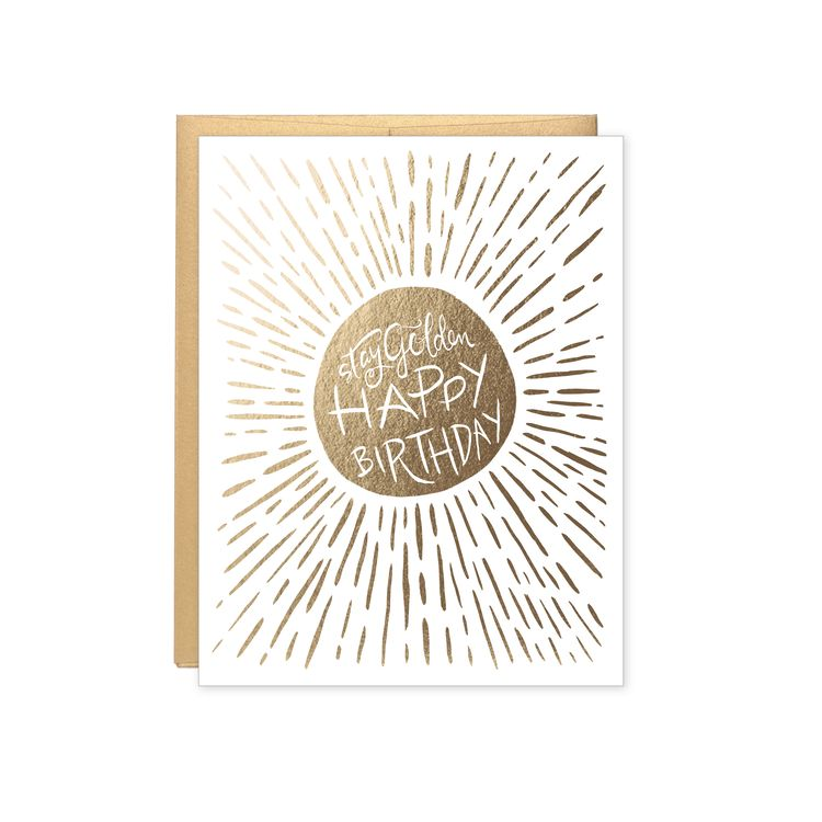 Lake Erie Design Co Stay Golden Happy Birthday Card