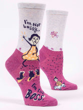 Load image into Gallery viewer, I'm NOT bossy. I'm the BOSS. Women's Crew Socks