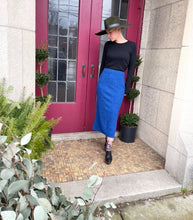 Load image into Gallery viewer, Heathered Blue Sweater Skirt