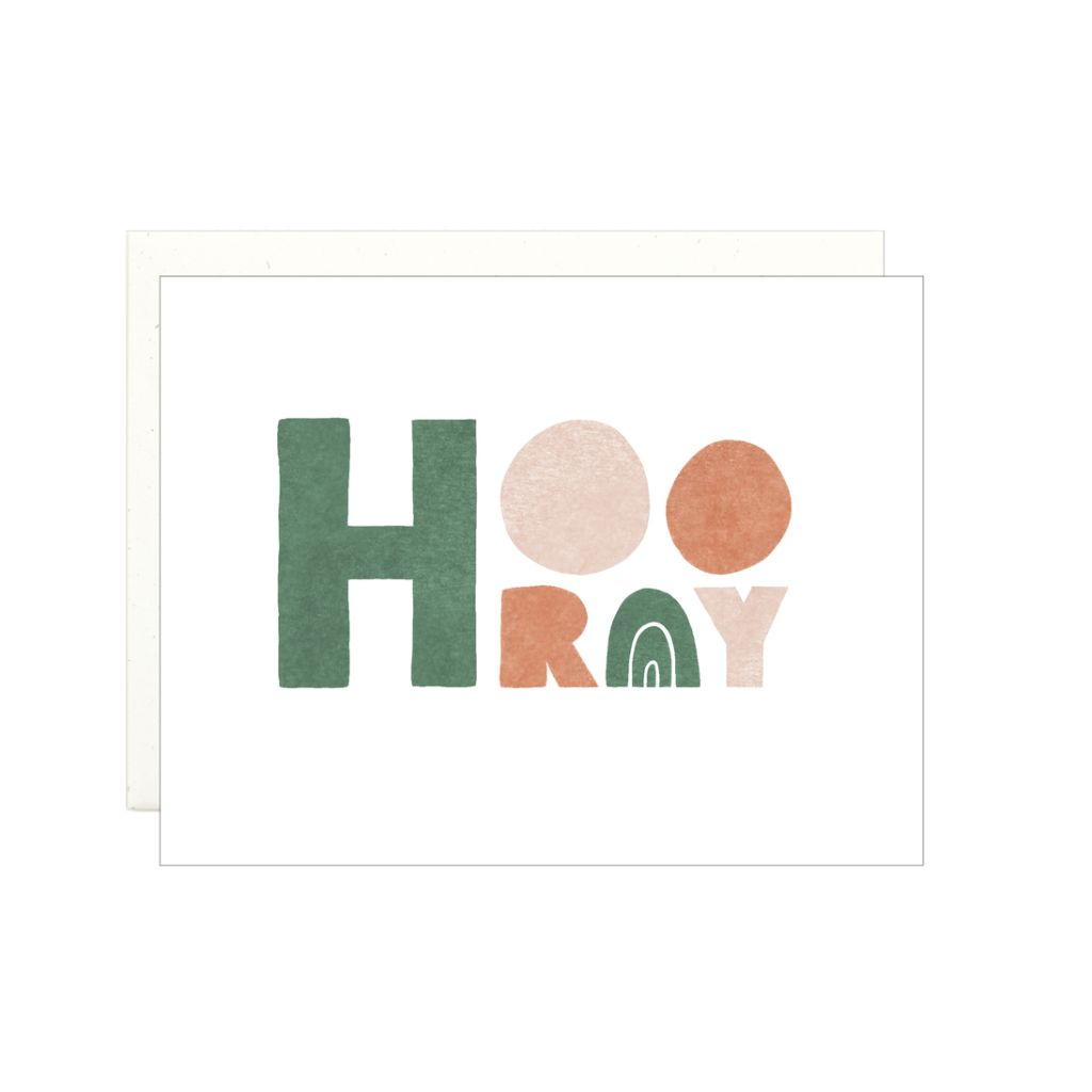 Hooray - Block Letters Card by Lake Erie Design Co