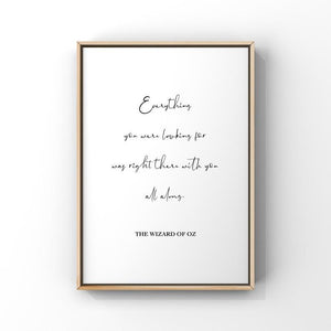 Everything You Were Looking For...The Wizard of Oz 5x7 Unframed Print by Evergreen Decor Co