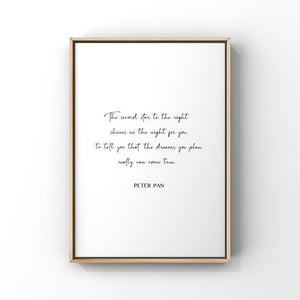 The Second Star to the Right...Peter Pan 5x7 Unframed Print by Evergreen Decor Co