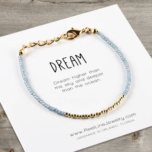 Minimalist Bracelets - Gold - Dream by Reel Line Jewelry