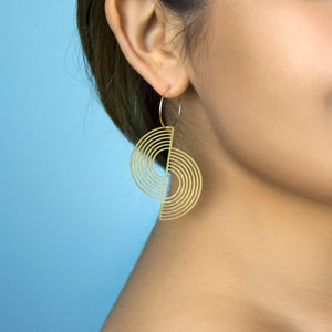Split Circle Earrings by A Tea Leaf