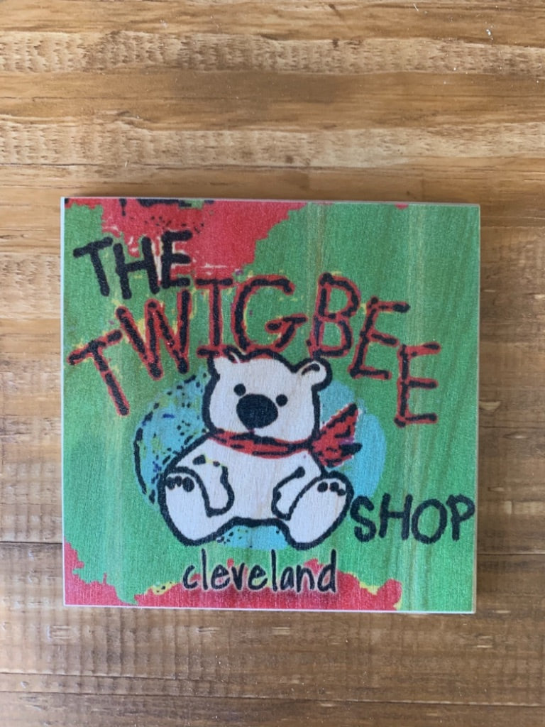 The Twigbee Shop Coaster by Foundry Woodprints