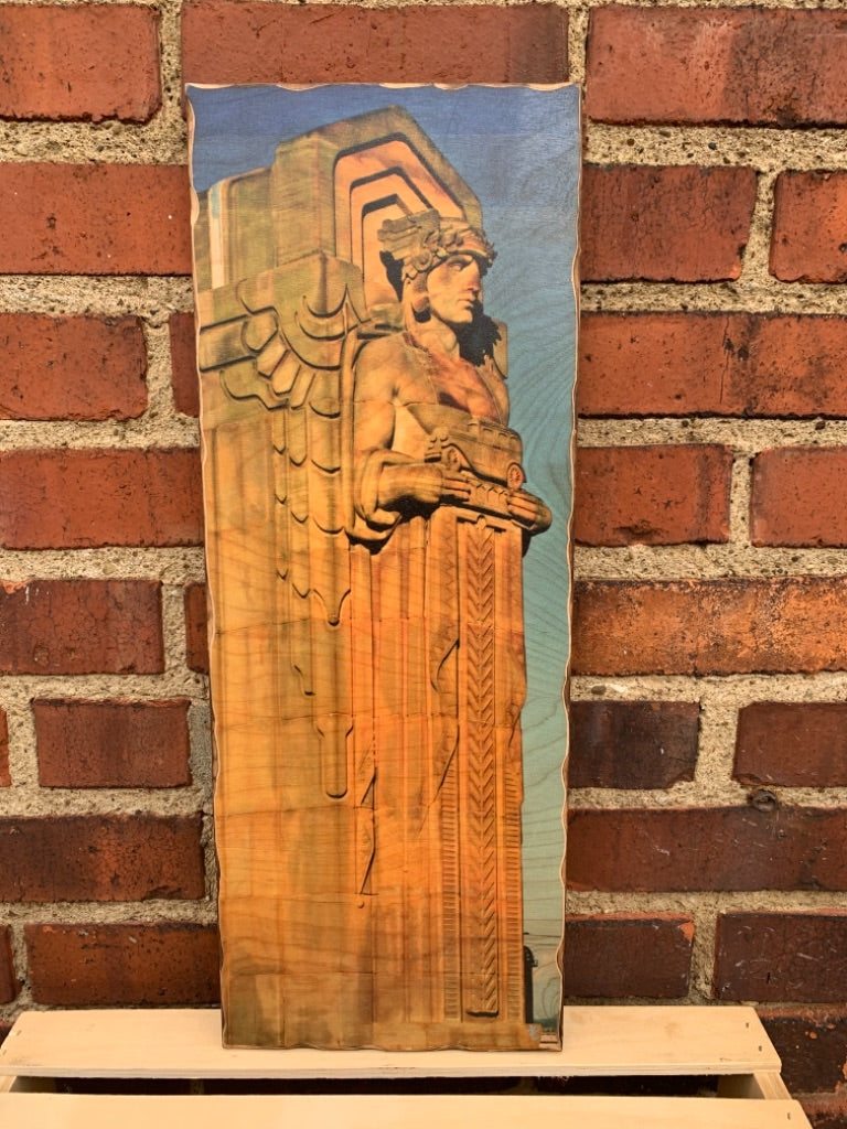 Guardian Woodprint with Blue Sky by Foundry Woodprints (IN STORE OR CURBSIDE PICK UP ONLY)
